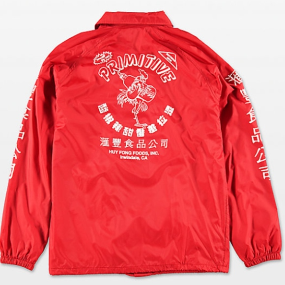 07bfd64e4 Primitive x Huy Fong Boys Red Coaches Jacket. M_5c7a995b194dad99a455a5ab